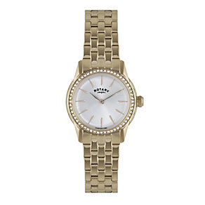 Rotary Ladies' White Dial Rose Gold-Plated Bracelet Watch - Product number 1638696