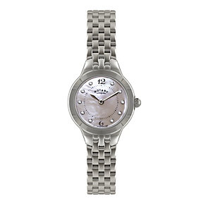 Rotary Ladies' Stone Set Stainless Steel Bracelet Watch - Product number 1638718
