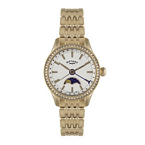 Rotary Ladies' Moonphase Rose Gold-Plated Bracelet Watch - Product number 1638734