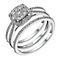 9ct white gold 0.50ct diamond cushion bridal ring set - Product number 1640615