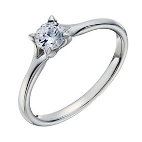 Platinum 0.33ct diamond solitaire 4 claw ring - Product number 1641174