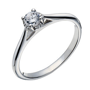 18ct white gold 0.25ct diamond illusion solitaire ring - Product number 1642049