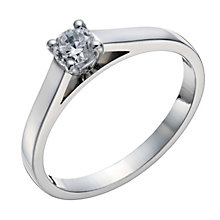 18ct white gold 0.25ct diamond solitaire 4 claw ring - Product number 1642707