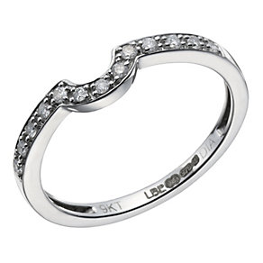 9ct white gold diamond set U-shaped ring - Product number 1643630