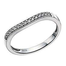 9ct white gold 10 point diamond vintage shaped ring - Product number 1643908