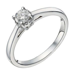 18ct white gold 0.25ct collet set diamond solitaire ring - Product number 1644858