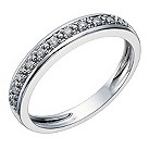 18ct white gold 10 point diamond eternity ring - Product number 1645668