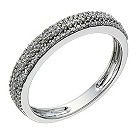 9ct white gold 1/4 carat diamond set micro prong ring - Product number 1646060