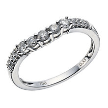 18ct white gold 0.33ct diamond 5 stone shaped ring - Product number 1647547