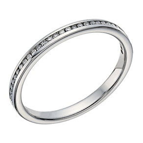 Palladium 10 point diamond channel set ring - Product number 1649396