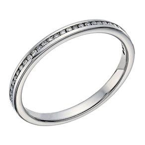 Palladium 10 point diamond channel set ring - Product number 1649396