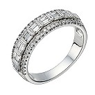 18ct white gold 60 point baguette cut diamond eternity ring - Product number 1649795