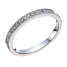 18ct white gold 11 point diamond pave set ring - Product number 1650807