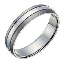 Palladium men's 3 row matt & polished 5mm ring - Product number 1651587
