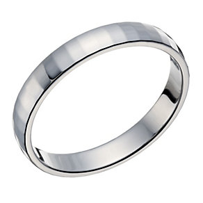 9ct white gold disco pattern 3mm ring - Product number 1652583