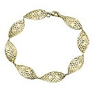 9ct yellow gold floral motif bracelet - Product number 1653687