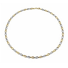 9ct two colour gold oval wave collarette necklace - Product number 1654012