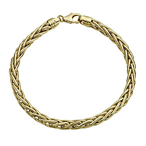 9ct yellow gold large spiga bracelet - Product number 1654756