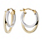 9ct gold & white gold double creole earrings - Product number 1654780