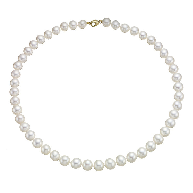 9ct yellow gold cultured freshwater pearl strand necklace - Product number 1655051