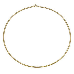 9ct yellow gold wide flat chain necklace - Product number 1656147