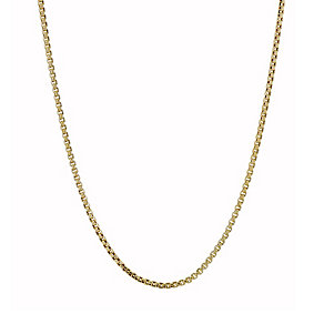 9ct gold Venetian box chain necklace - Product number 1656171