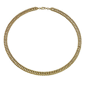 9ct gold fancy multi link collarette necklace - Product number 1656198