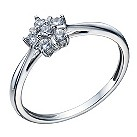9ct white gold cubic zirconia flower ring - Product number 1656880