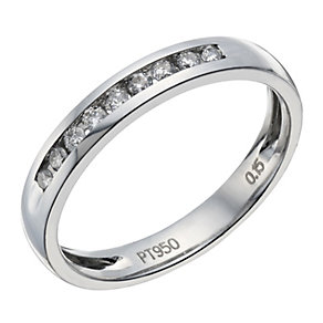 Platinum 15 point diamond channel set ring - Product number 1657402