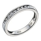 Platinum 1/4 carat diamond channel set ring - Product number 1657542