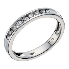 Platinum 0.25ct diamond channel set ring - Product number 1657542