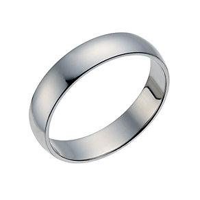 Palladium 500 4mm Extra Heavy D Shape Ring - Product number 1658875