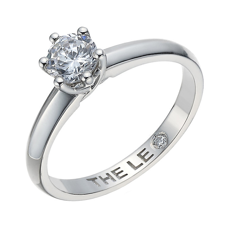 Leo Diamond platinum 0.50ct I-S12 solitaire ring - Product number 1659111