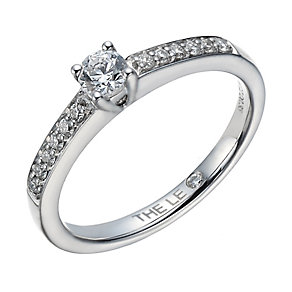 Leo Diamond 18ct white gold 0.33ct I-I1 solitaire ring - Product number 1659995