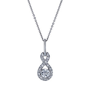 Sterling silver cubic zirconia figure of 8 pendant - Product number 1660934