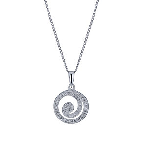 Sterling silver cubic zirconia spiral pendant - Product number 1661183