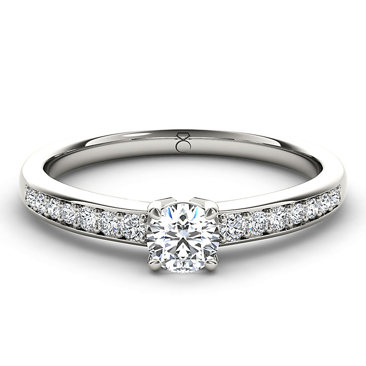The Diamond Story 18ct White Gold 1/2 carat diamond ring - Product number 1661205