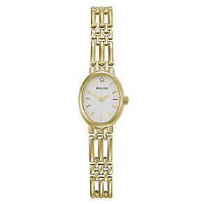 Accurist Gold Ladies' 9ct Gold Diamond Set Bracelet Watch - Product number 1661965