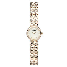 Accurist Gold Ladies' 9ct Gold Diamond Set Bracelet Watch - Product number 1662120