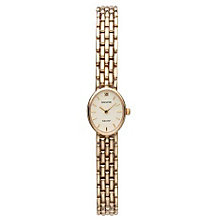 Accurist Gold Ladies' 9ct Gold Oval Dial Bracelet Watch - Product number 1662252