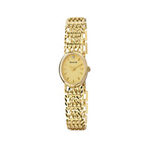 Accurist Gold Ladies' 9ct Gold Diamond Set Bracelet Watch - Product number 1662392