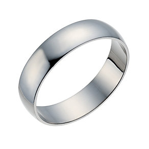 Palladium 500 5mm Extra Heavy D Shape Ring - Product number 1662732