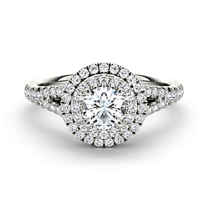 The Diamond Story 18ct white gold 1 carat diamond ring - Product number 1663046