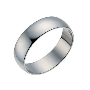Palladium 500 6mm Extra Heavy D Shape Ring - Product number 1663178