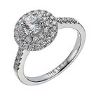 Leo Diamond 18ct white gold 80 point I-I1 diamond halo ring - Product number 1664085