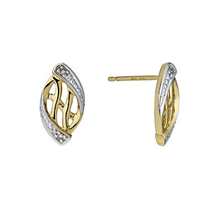 9ct Gold Diamond Stud Earrings - Product number 1664484