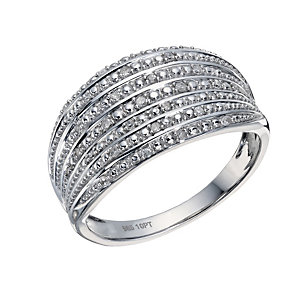 Sterling Silver 1/10 Carat Diamond Eternity Ring - Product number 1667173