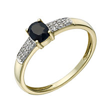 9ct Gold Sapphire & Diamond Ring - Product number 1668471