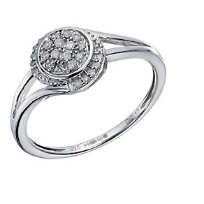 Sterling Silver 1/6 Carat  Diamond Twist Ring - Product number 1669079