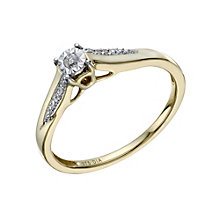 9ct Gold Diamond Illusion Solitaire Ring - Product number 1669621